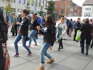 Audience dancing with Movema Williamson Sq 8th Oct