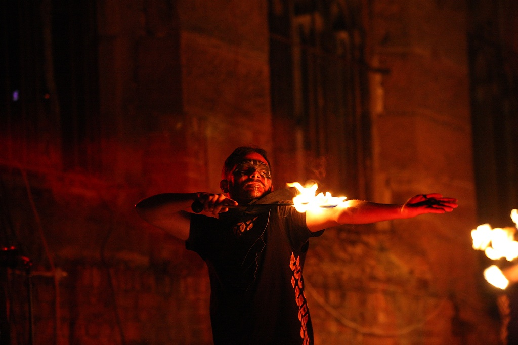 'Wake the Dragon' at the Bombed Out Church, Liverpool – Sept 27 2020